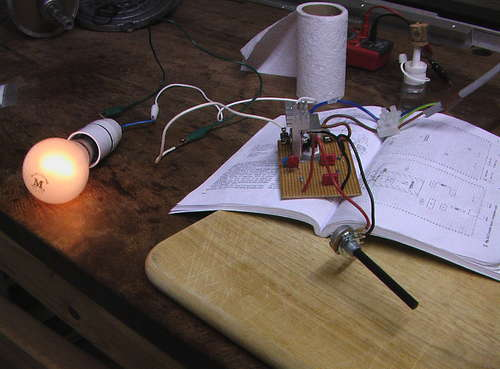 The BTA triac tested with incandescent bulb
