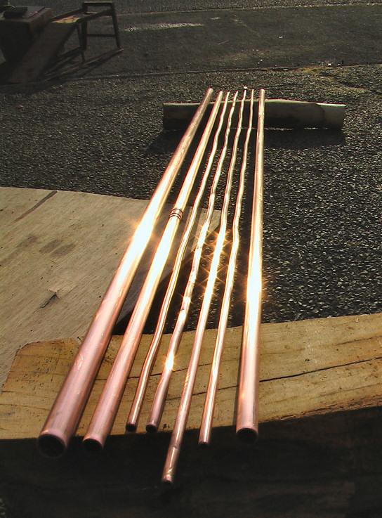 integral copper tubes