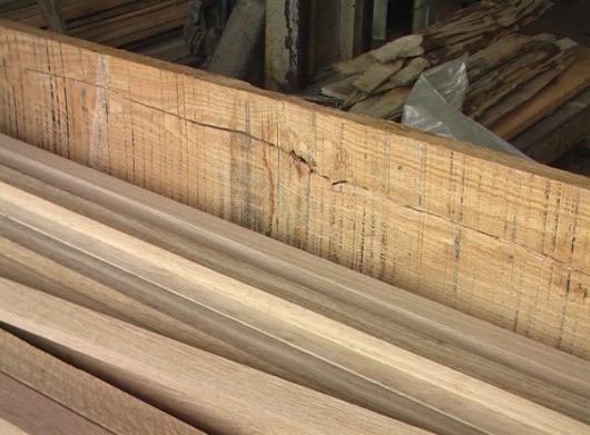 oak contrast rough cut _ top planed
