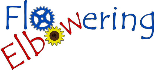 The logo with a bit more blue and a sunflower'esque cog