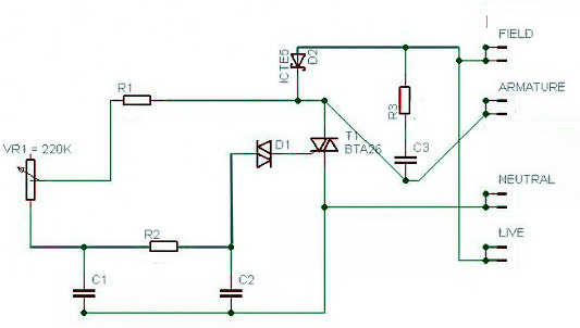 motor speed control part  the