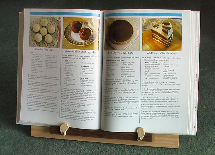 Recipe book stand and sanctuary - Cream recipe book stand ...
