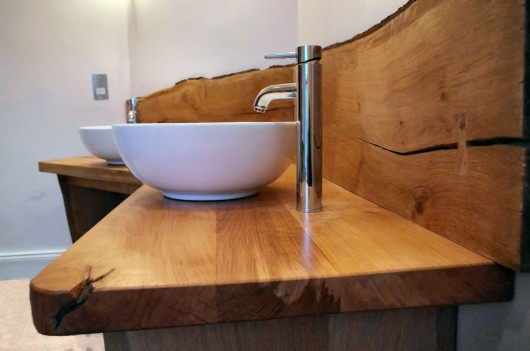 double oak washstand