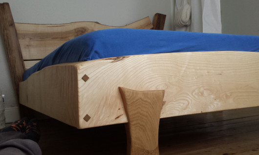 foot of oak bed