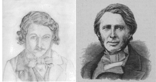 William Morris (Left)  & John Ruskin (right)