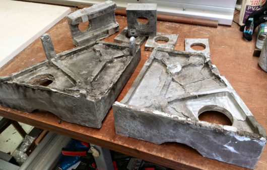 Aluminium Castings made with lost foam method.
